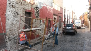construction in the street